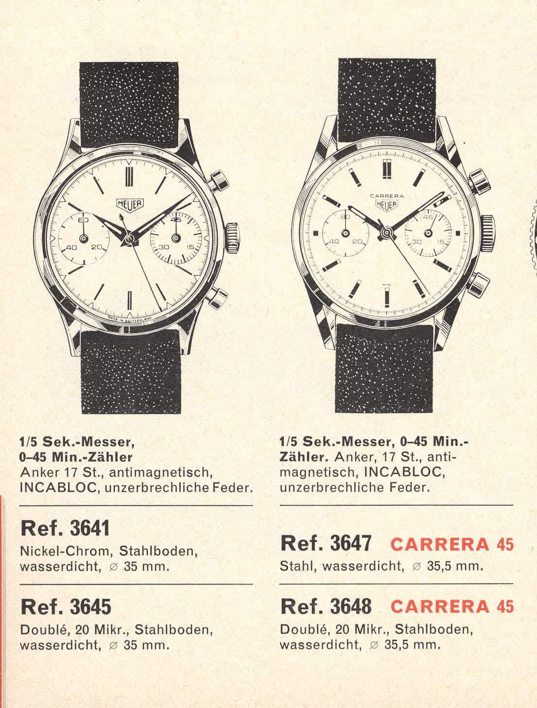 Die Carrera 45 in einem Katalog abgebildet