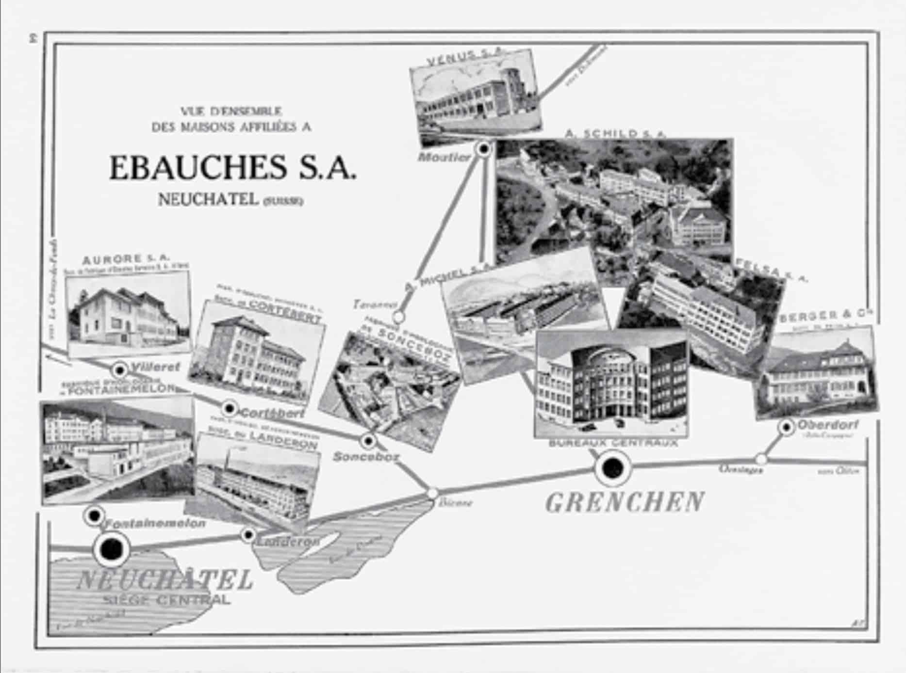 Die Uhrenindustrie zwischen Grenchen, Biel und dem See von Neuchatel schloss sich zusammen