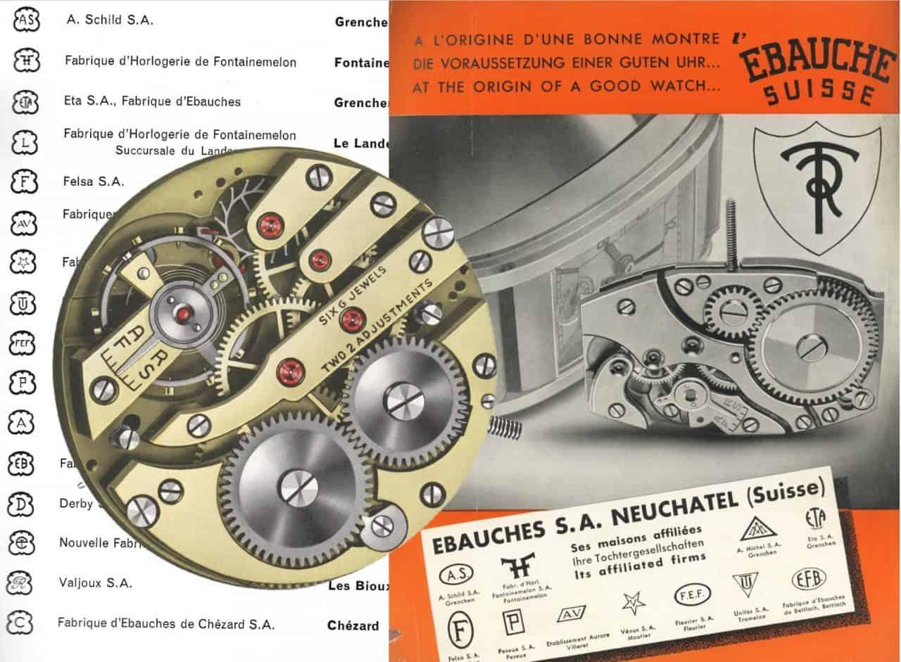 Stempel im Uhrwerk verraten den Rohwerke-Hersteller
