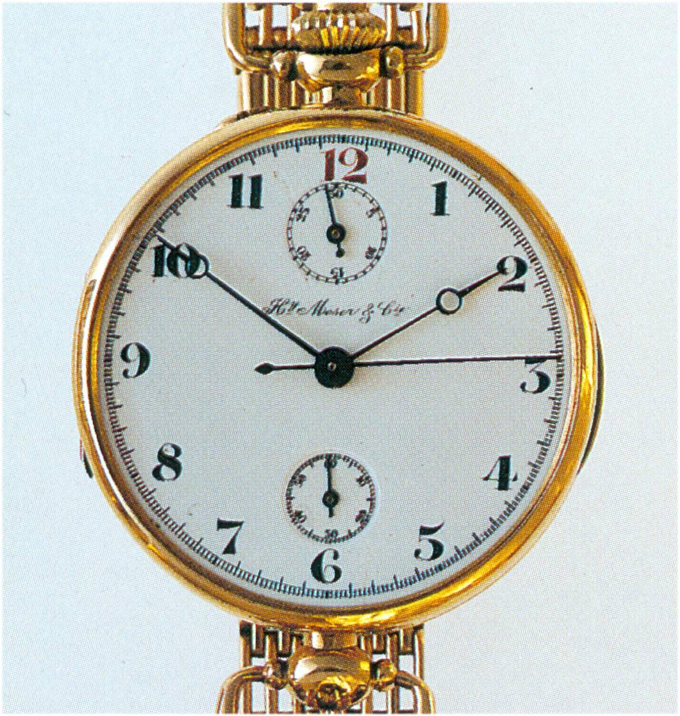 H. Moser Cie Chronograph um 1915