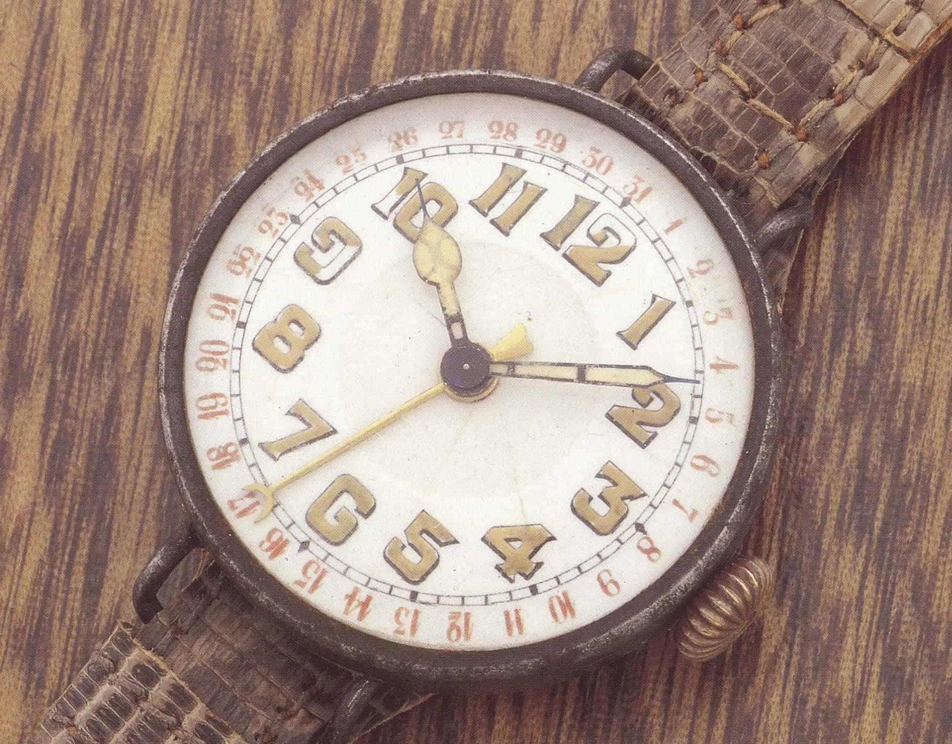 Die Hammerly Zeigerdatums-Uhr trug weder Markenzeichen noch Signatur