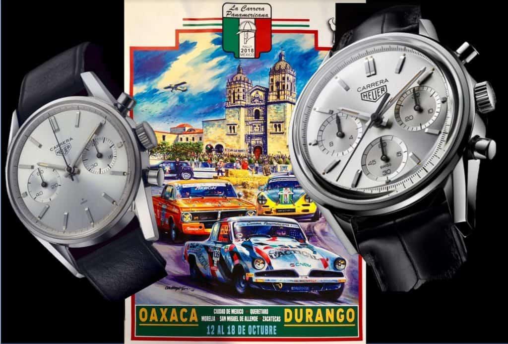 Die erste Heuer Carrera und die Red-Edition der Heuer Carrera 1860 Silver Edition