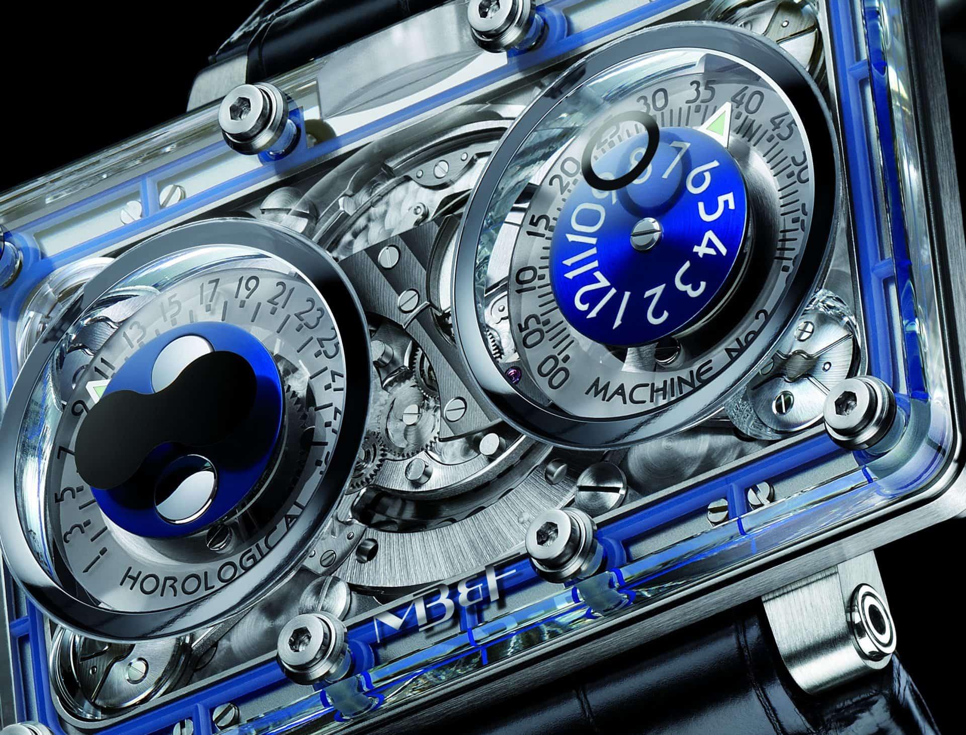 Eine außergewöhnliche Uhr mit Saphirgehäuse - die MB&F The Machine 2