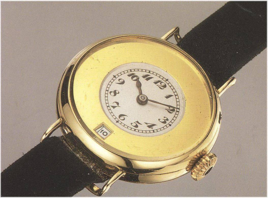Erste Armbanduhr mit Fensterdatum