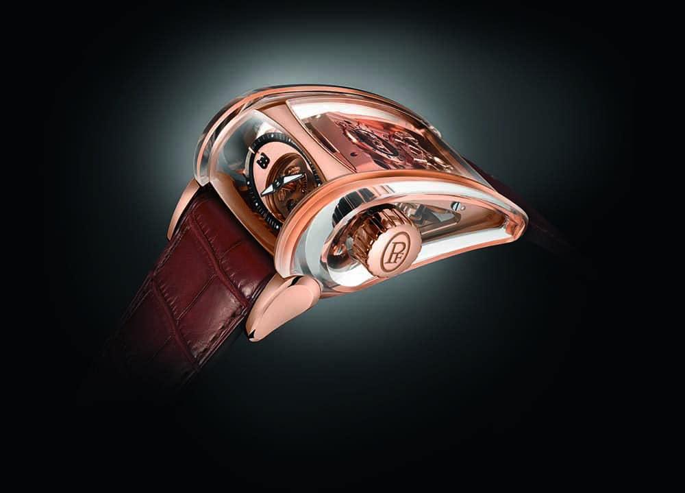 Gold und Saphir im Gehäusebau kombiniert - die Bugatti Super Sport Saphir Manufakturuhr