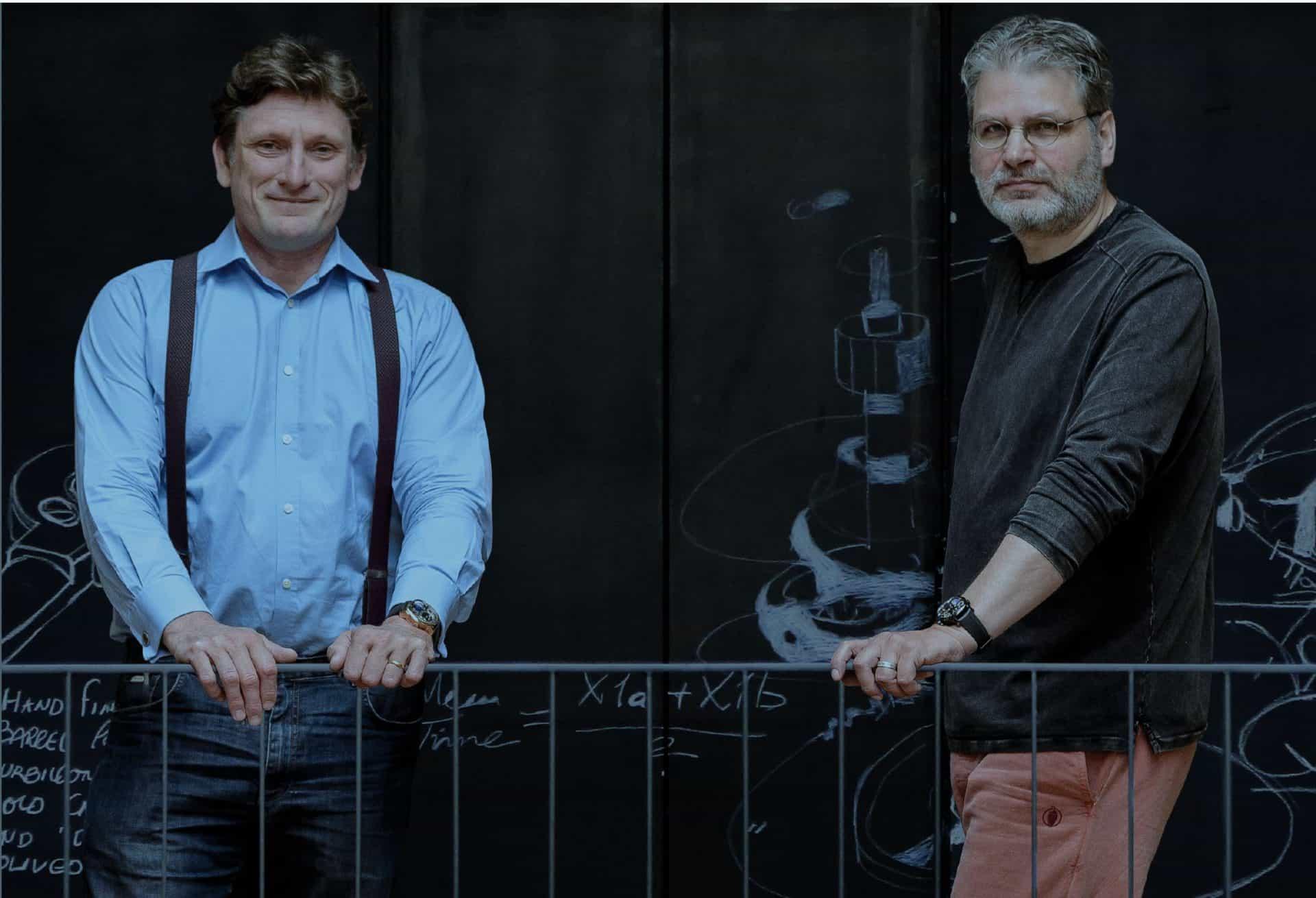 Porträt-Aufnahme von Robert Greubel und Stephen Forsey
