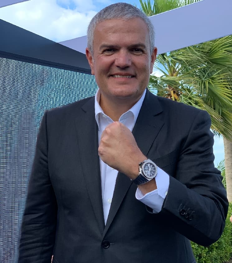 Hublot CEO Ricardo Guadalupe mit dem neuen Big Bang Integral-Modell