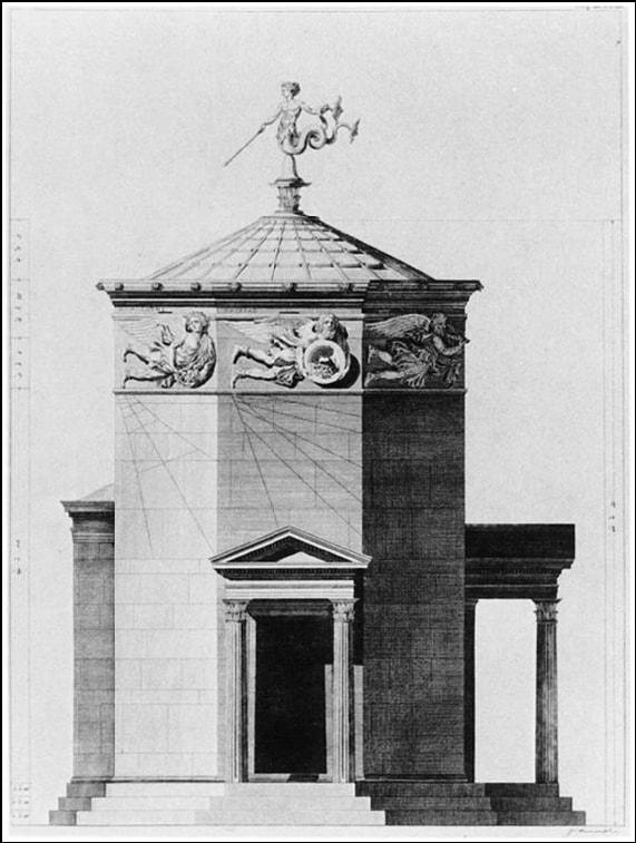 Turm der Winde Uhr und Wetterstation in Athen