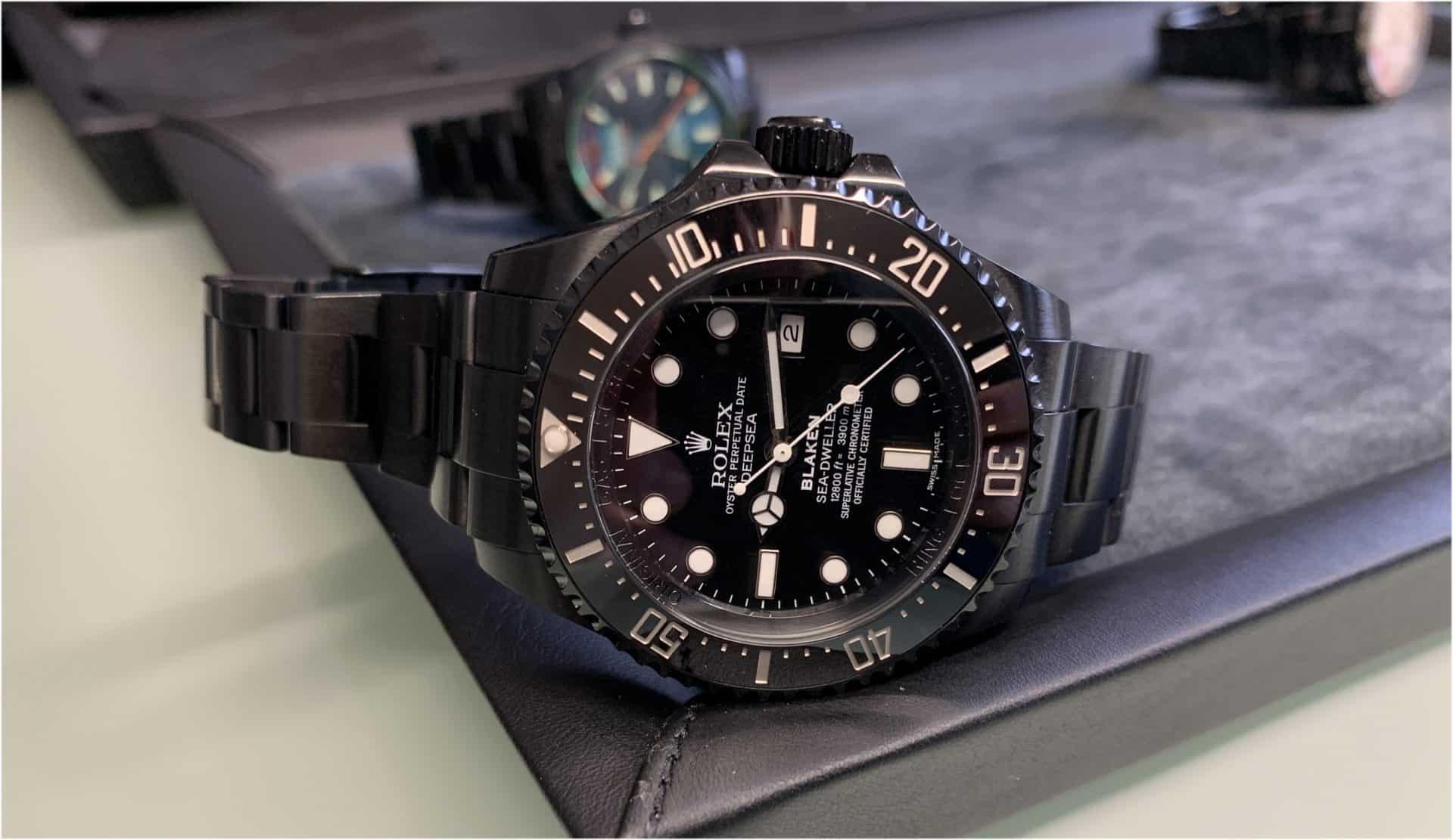 Blaken hat dieser von einem Kunden eingelieferten Rolex Oyster Perpetual Sea-Dweller, Ref. 126600, ein individuelles Gesicht verliehen
