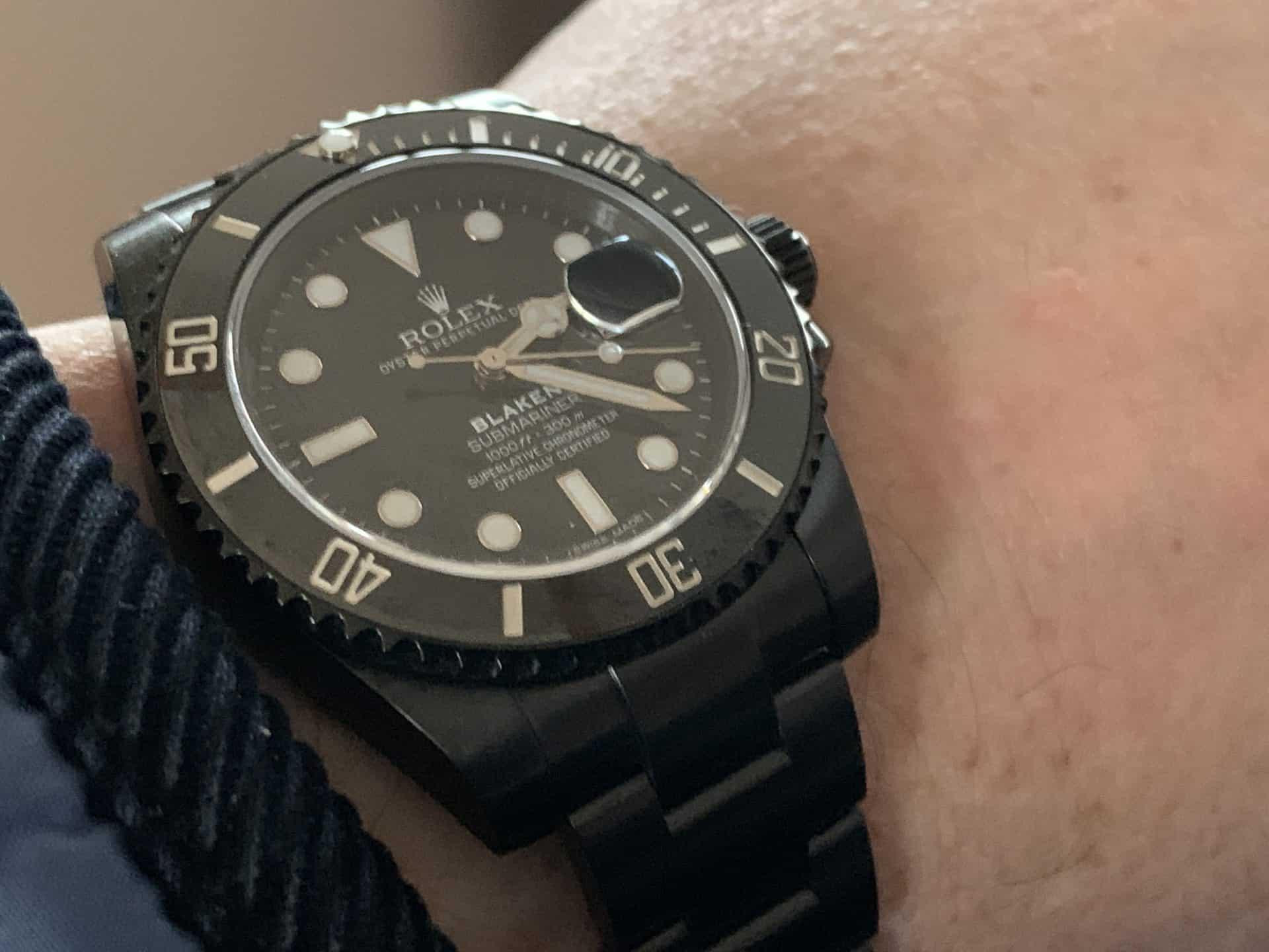 Die komplett schwarze Blaken-Version der Rolex Submariner Date Ref. 116610LN wurde gepimped