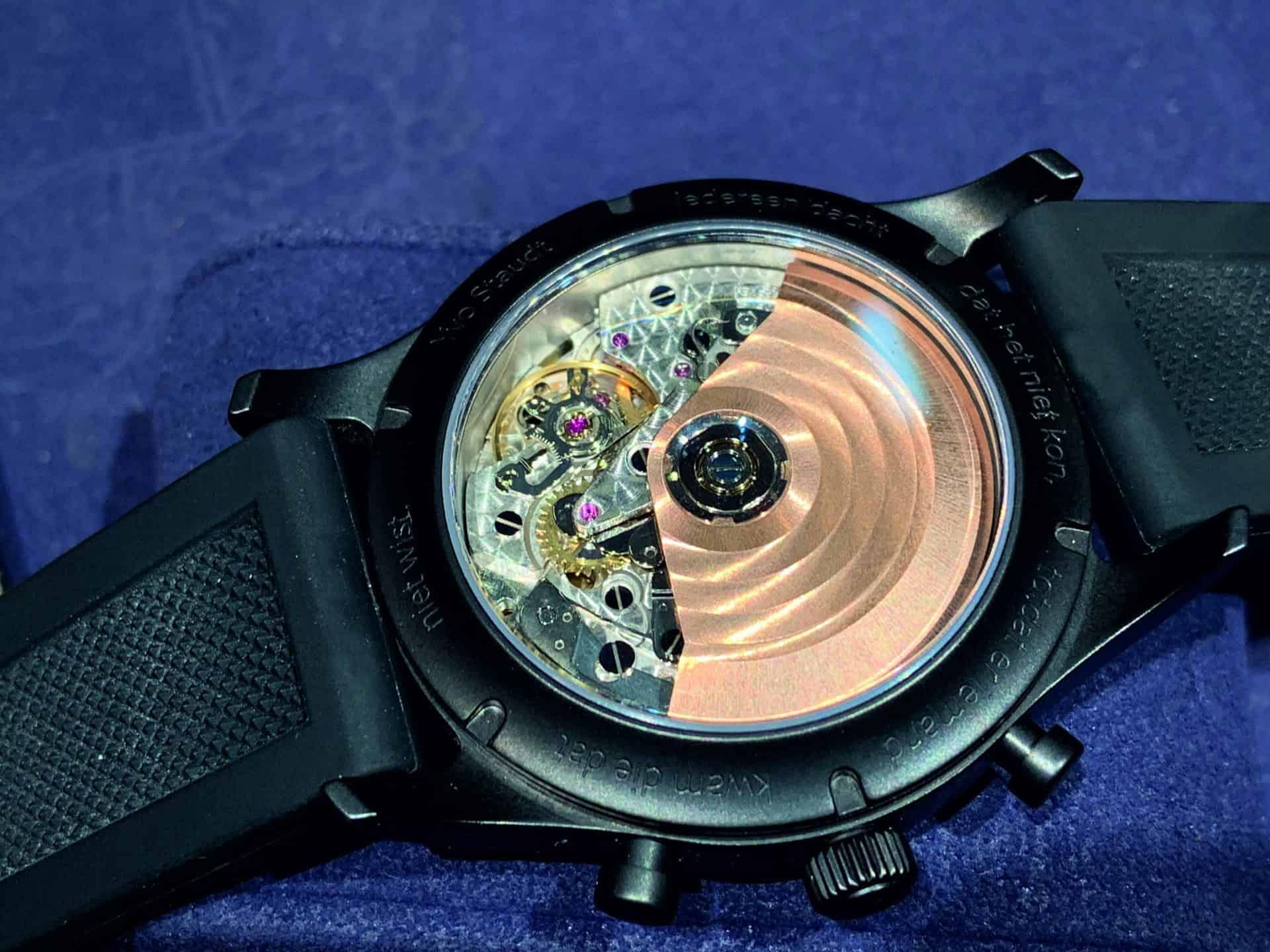 """Ein Edel-Eta-Werk: Das Automatikkaliber 7753 im Yvo Staudt """"Praeleudium Chronograph Black Edition"""""""