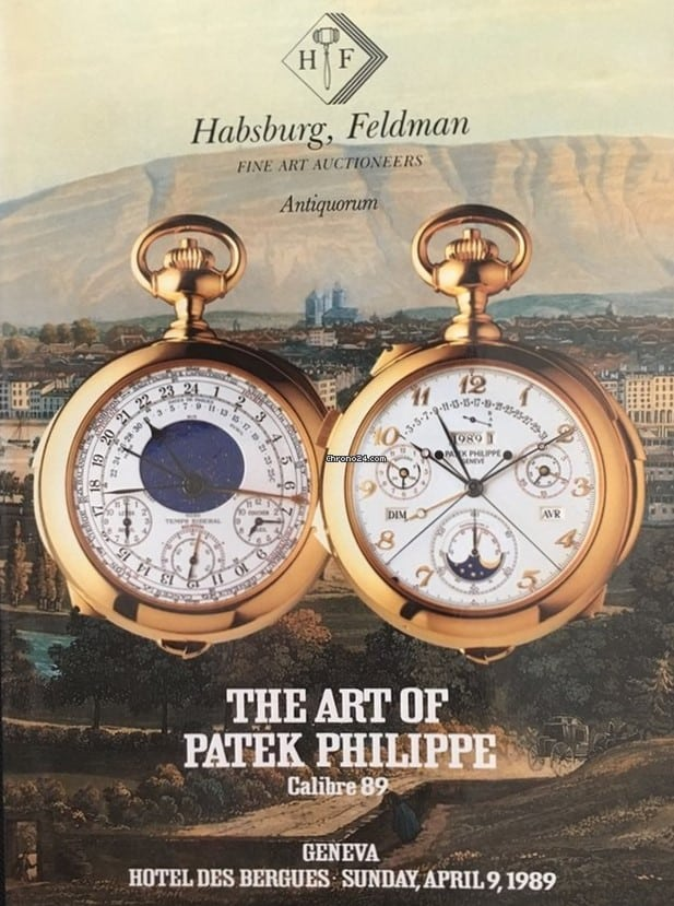 Der Antiquorum Katalog The Art of Patek Philippe von 1989