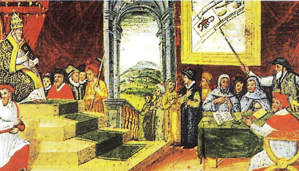 Die Verkündung des neuen Kalenders durch Pabst Gregor VIII brachte Ordnung - und dem Pabst die bildliche Verewigung
