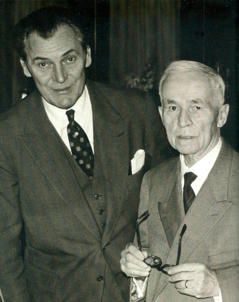 Henri Stern und Jean Pfister in einer alten Aufnahme des Jahres 1958