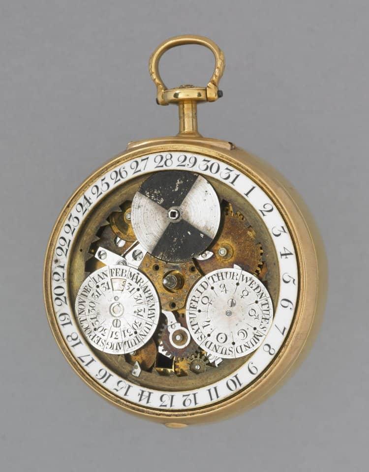 Der englische Uhrmacher schaffte im 18. Jahrhundert das kleine Kunstwerk eines ewigen Kalenders dem ein Gregorianischer Kalender zugrunde lag