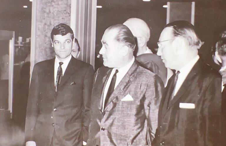 Henri Stern und der junge Philippe im Jahr 1963