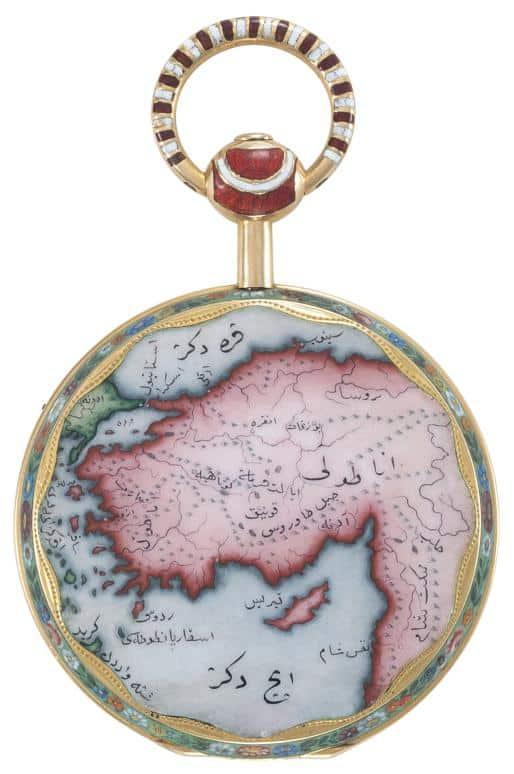 Die Landkarte Osmaniens wurde von Patek im 19. Jahrhundert hergestellt und war auch Handarbeit