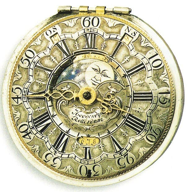 Taschenuhr mit Julianischem Kalender aus dem Jahr 1750