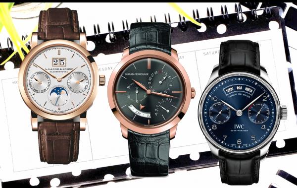 Luxus-Uhren mit Jahreskalender