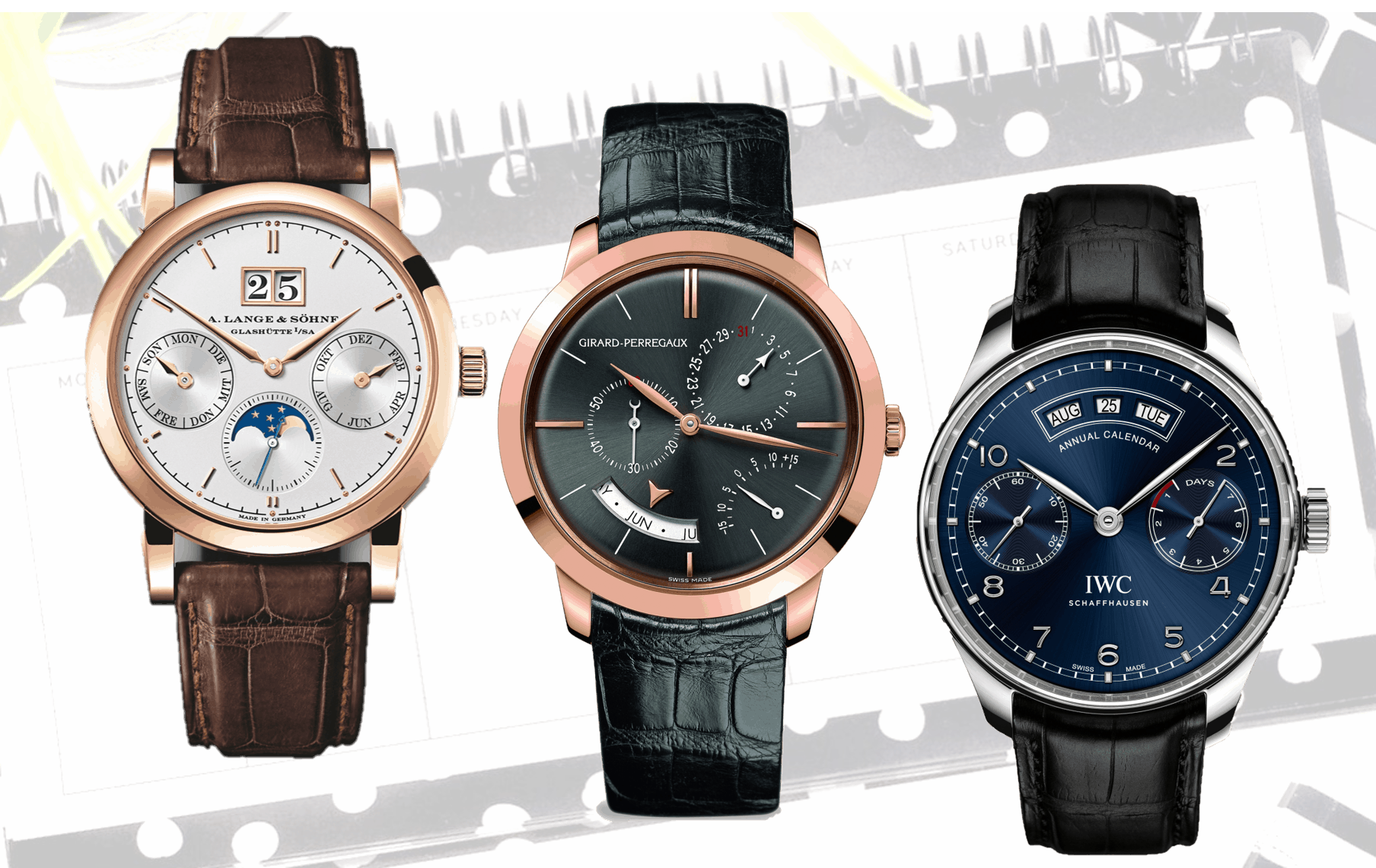 Drei hochwertige Uhren mit feine Technik und Schönheit