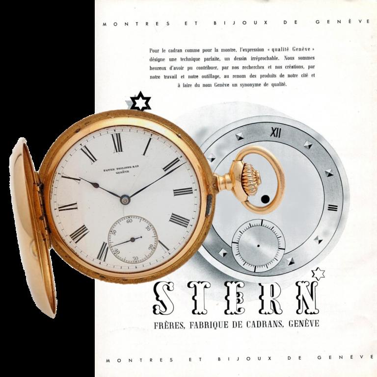 Die Zifferblattproduktion von Stern für Patek wie Fremdmarken lief weiter und wurde beworben