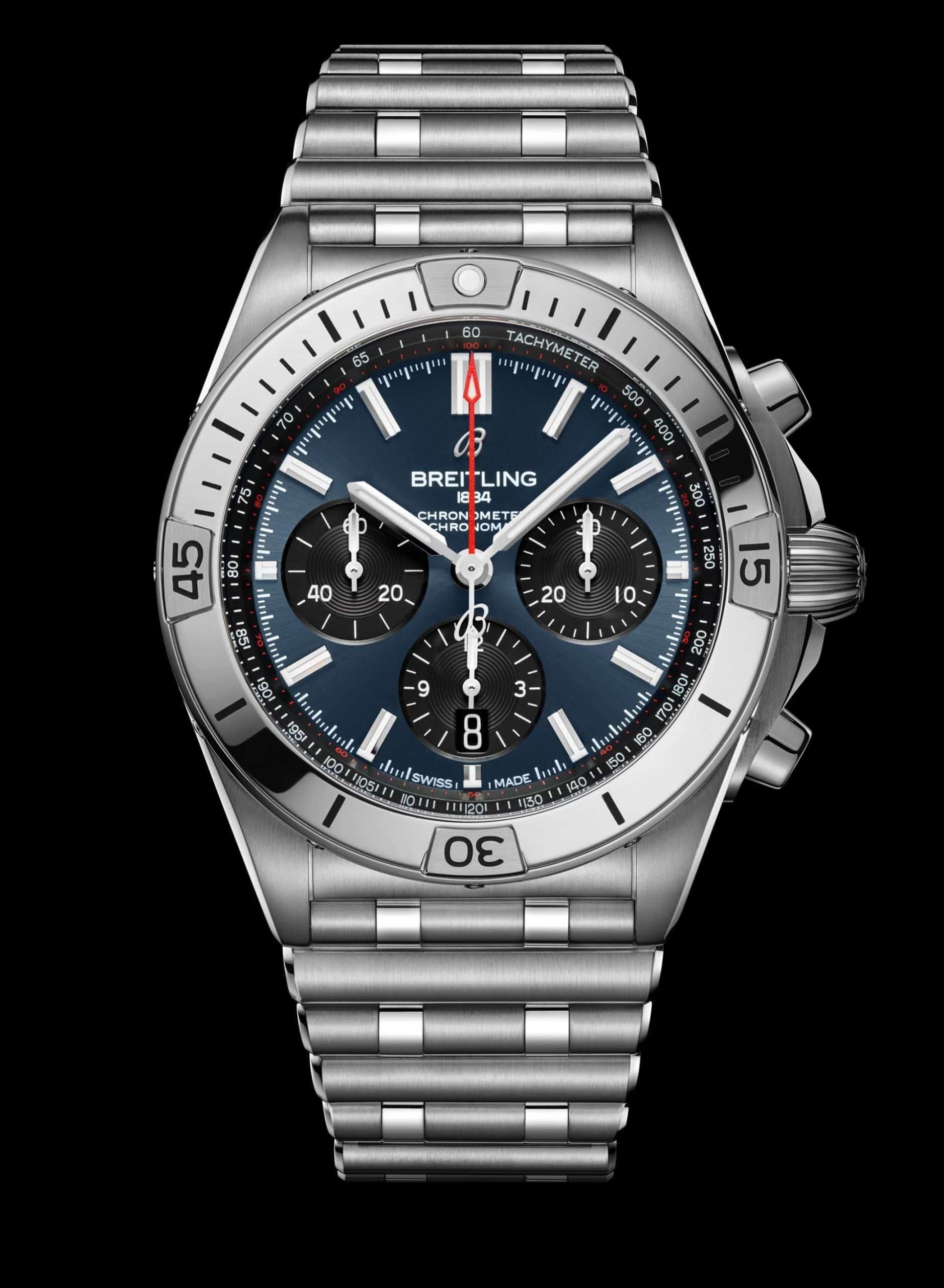 Breitling Chronomat B01 42, Ref. AB0134101C1A1 in Blau