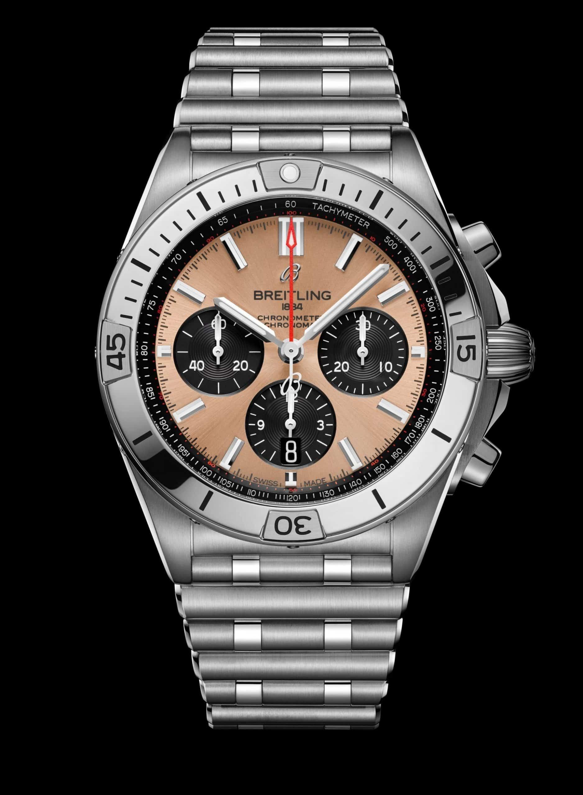 Kupfer auf dem Zifferblatt statt im Gehäuse - der Pandalook Breitling Chronomat B01 42, Ref. AB0134101K1A1