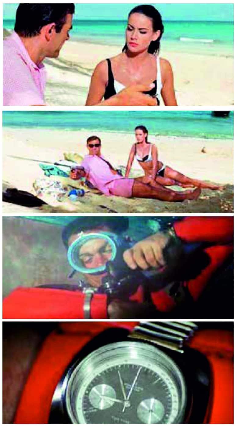 Der Breitling Top Time Chronograph Referenz 2002/3 war im James Bond-Film Fireball im Dienste ihrer Majestät