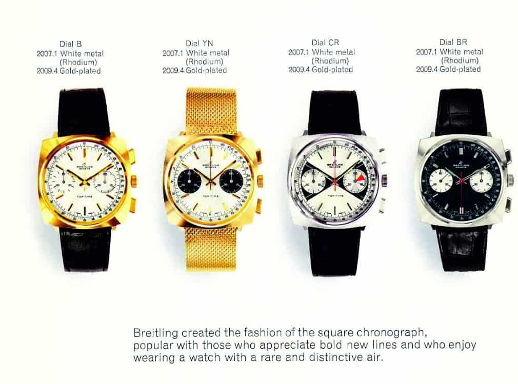 der Breitling Verkaufskatalog mit Top Time Modellen aus den 1960er Jahren