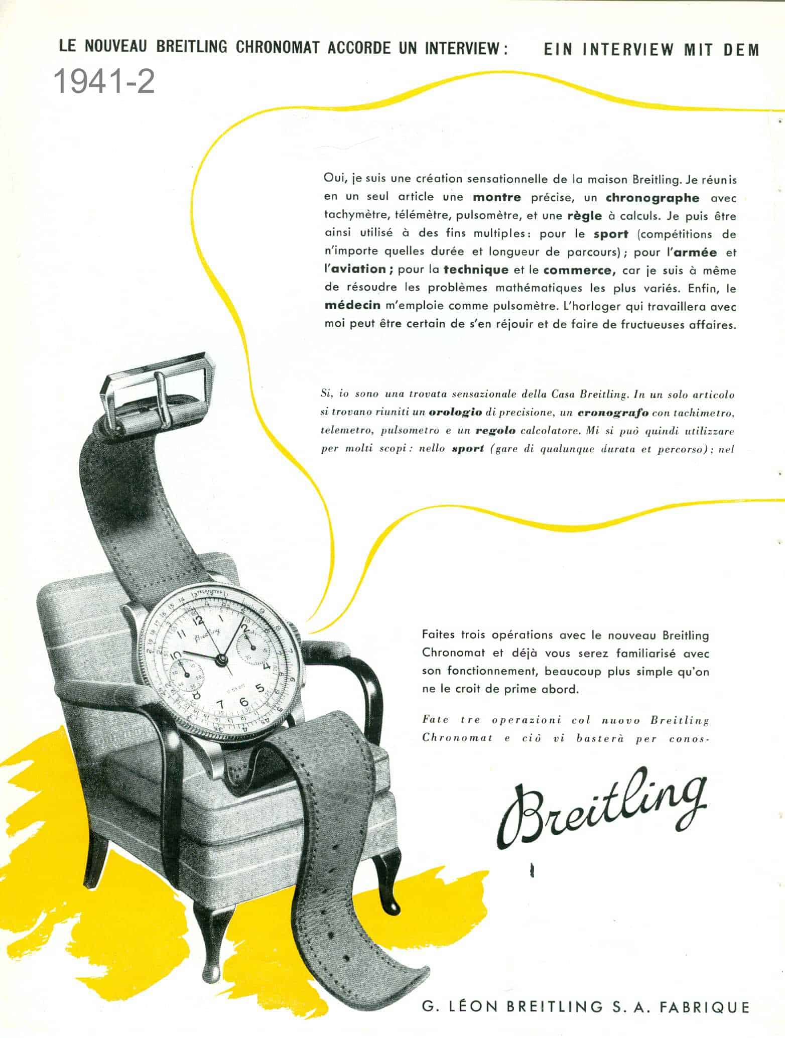 Dass neue Breitling Familienmitglied Chronomat