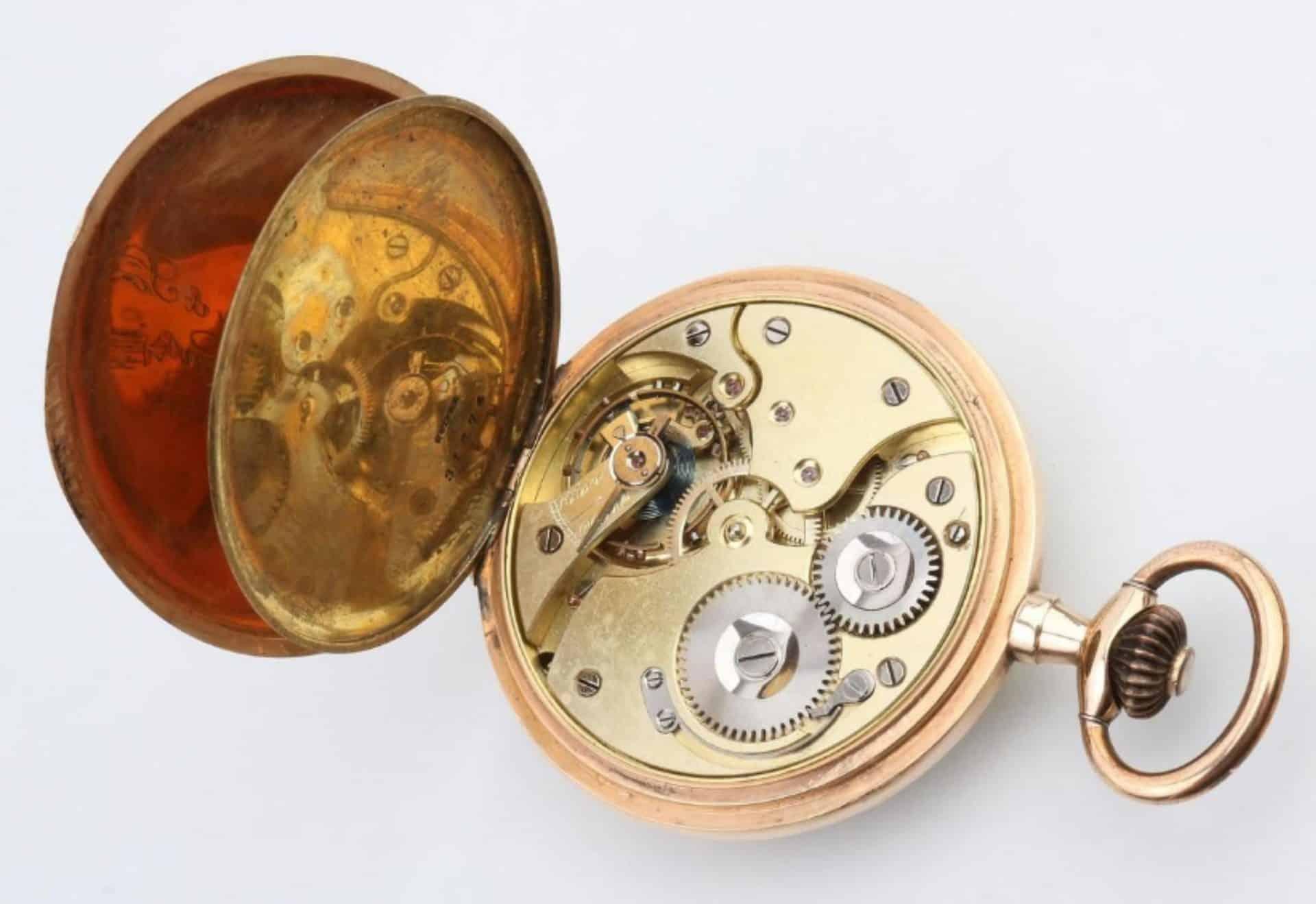 Das Uhrwerk einer Suchy Taschenuhr aus dem Dorotheum Wien
