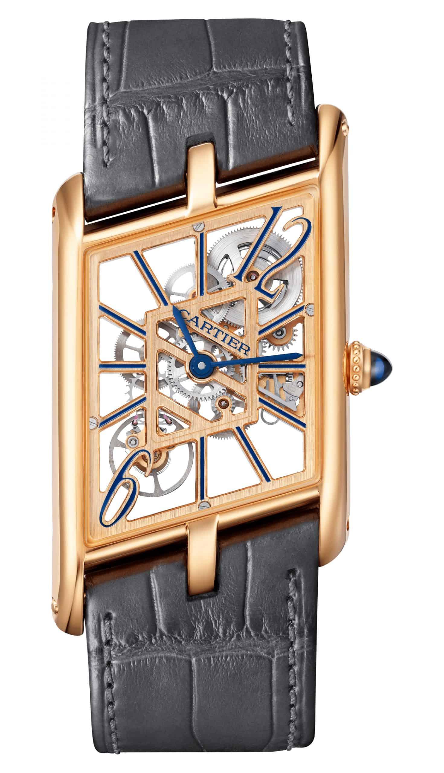 """Schräges Design mit vollem Durchblick bietet die Cartier """"Tank Asymetrique"""""""