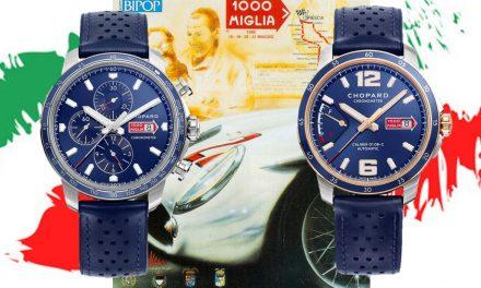 Zwei Azurro-blaue Rallye-Uhren von Chopard