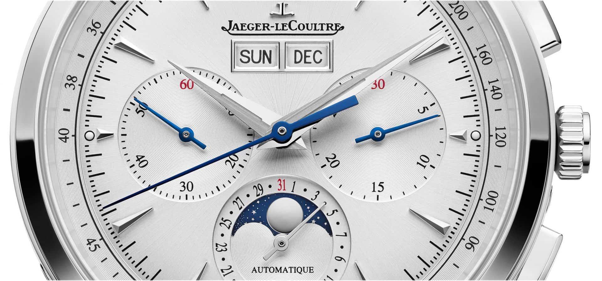 "Blick aufs Zifferblatt des Jaeger-LeCoultre ""Master Control Chronograph Calendar"", Ref. Q4138420"