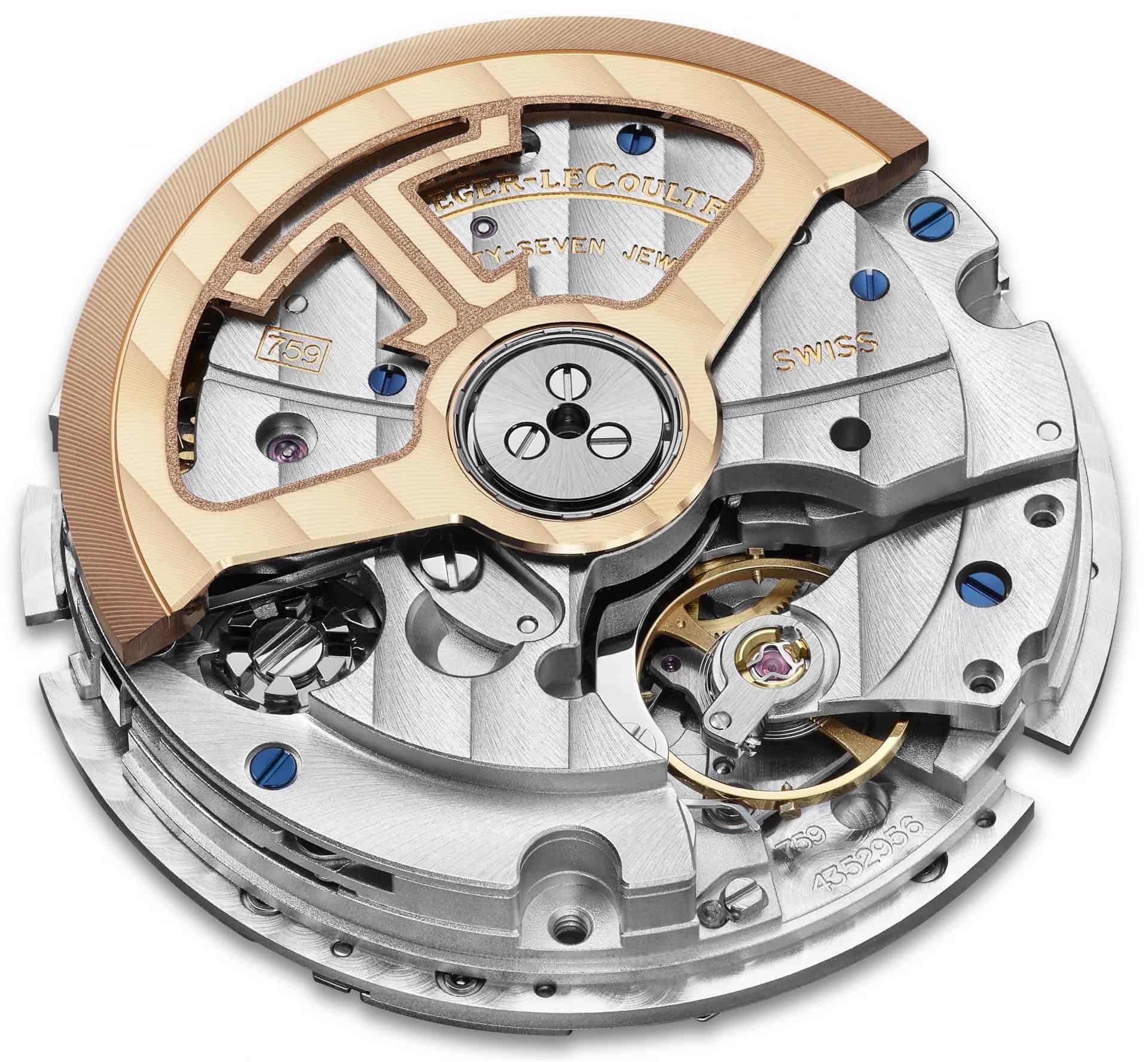 Das neue Manufakturkaliber 759 von Jaeger-LeCoultre mit links dem Schaltrad des Chronographenmechanismus