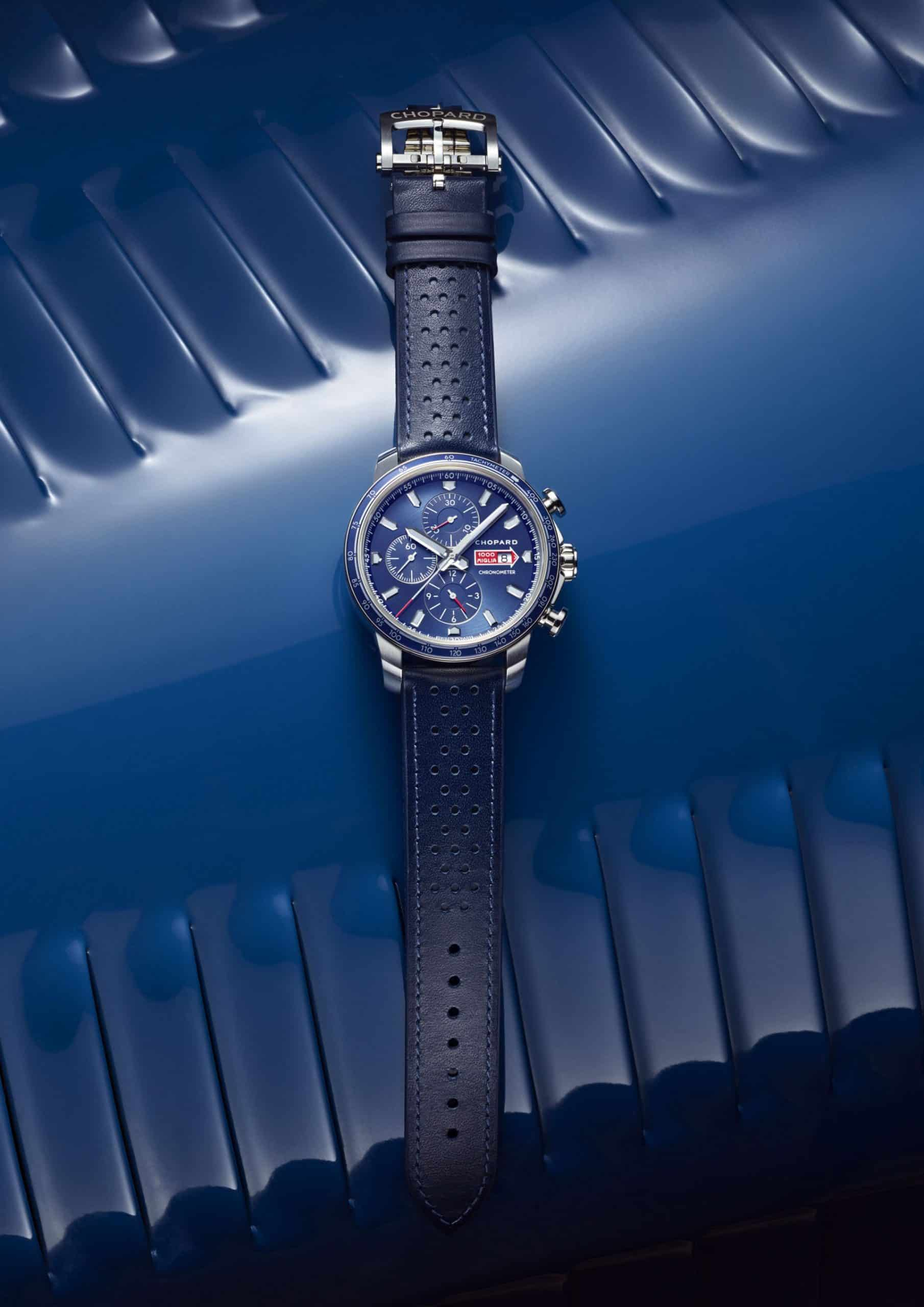 "Der azurblaue Chopard ""Mille Miglia GTS Azzurro Chronograph"", Referenz 168571-3007"