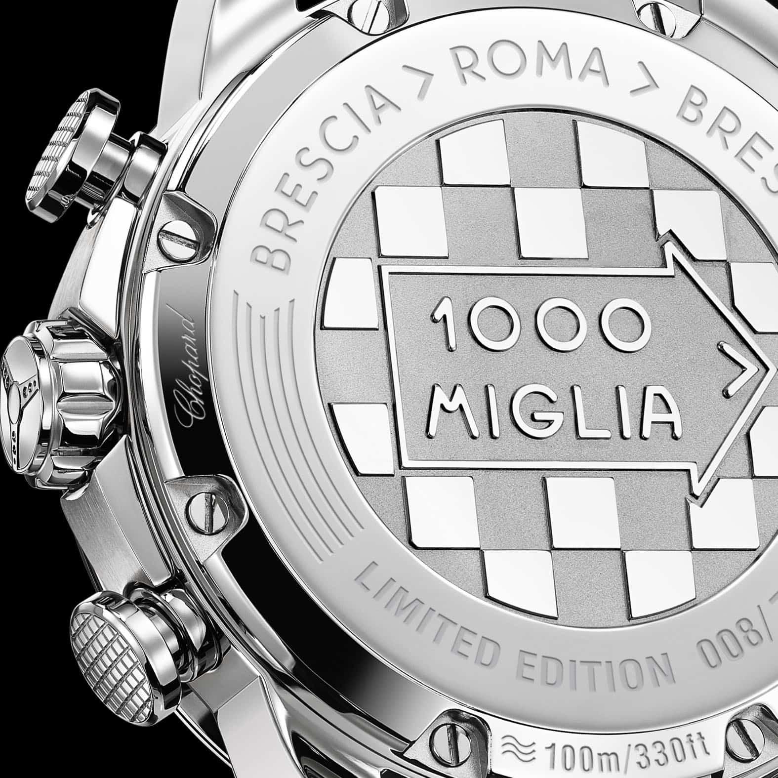 Der Stahlboden zeigt die Limitierung und die Route Brescia-Rom-Brescia