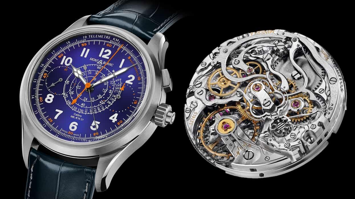 Keine alltägliche Uhr mit einem exquisiten Kaliber und eine Uhr mit Potential - der Montblanc 1858 Split-Seconds Chronograph mit blauem Email-Zifferblatt