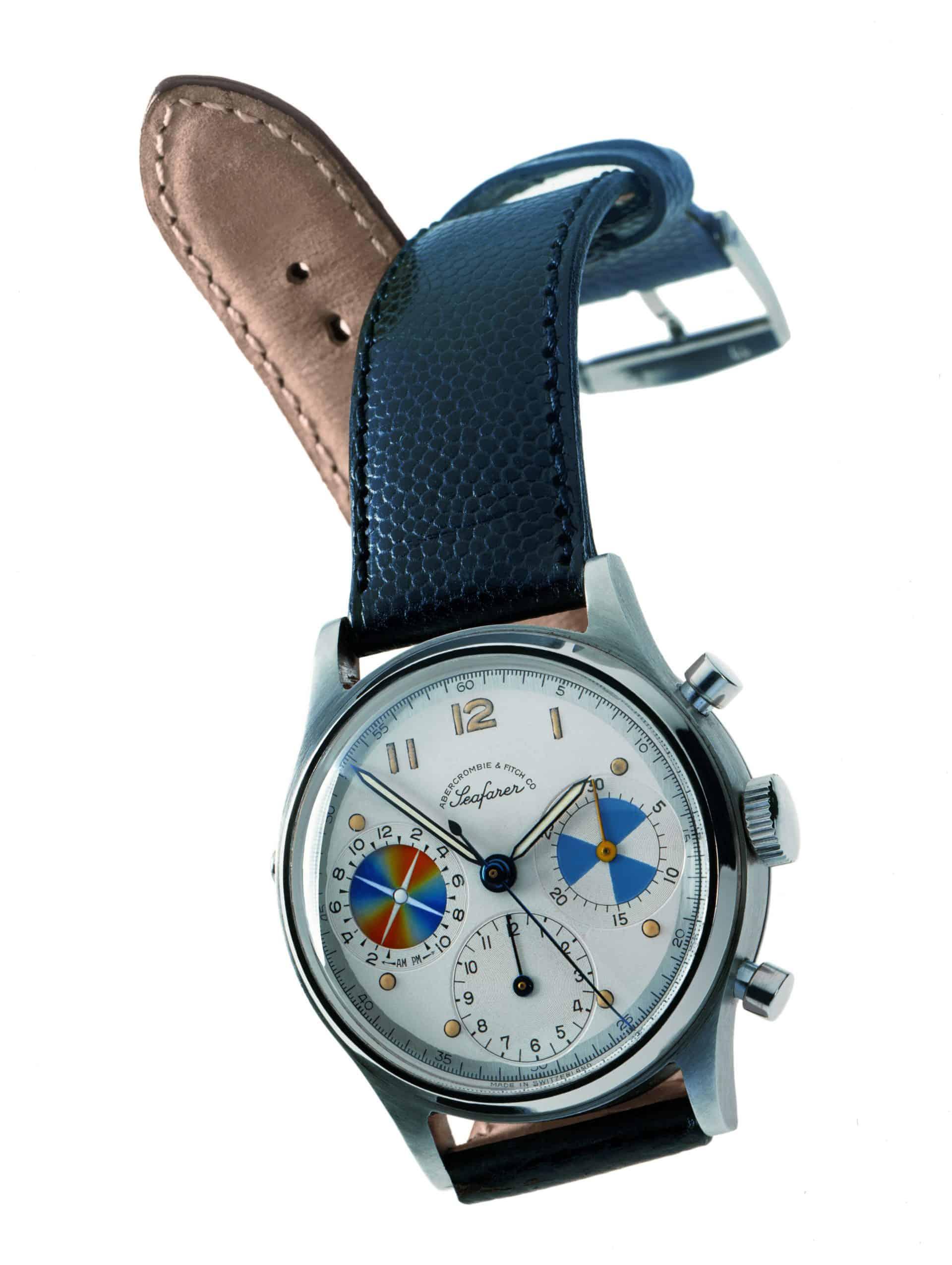 Die von Heuer entwickelte Uhr Seafarer Mareographe