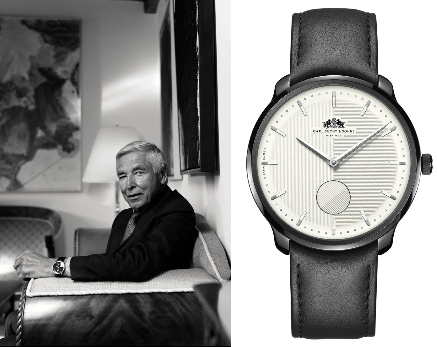 Carl Suchy Uhr mit Peter Brabeck-Letmathe