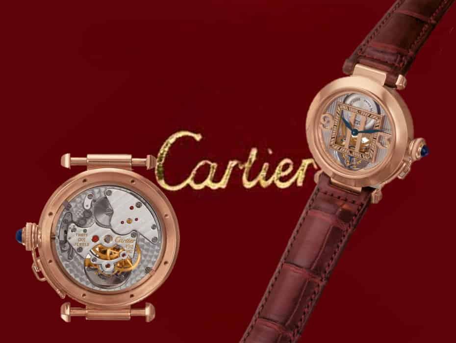 Aus dem Jahr 2000 stammt die Cartier Pasha Tourbillon mit dem Kaliber 492 MC