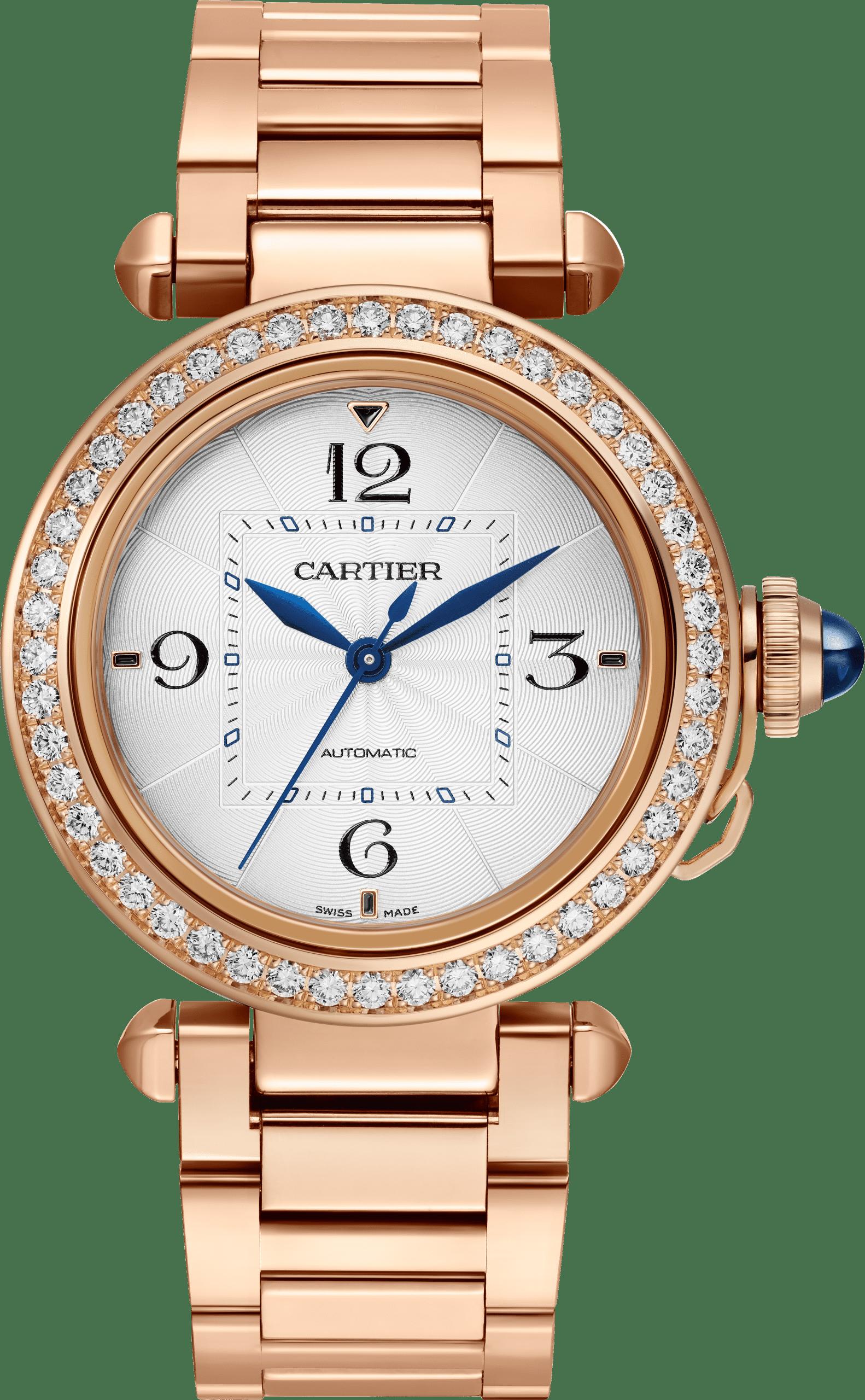 Edel und teuer in Roségold mit Diamanten: Die Cartier Pasha de Cartier 35 mm, Referent WJPA0013