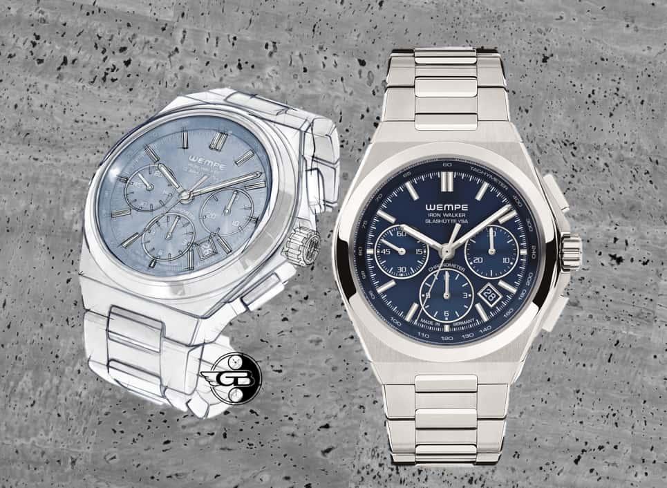 IWC Iron Walker Chronograph blau Uhrenkosmos