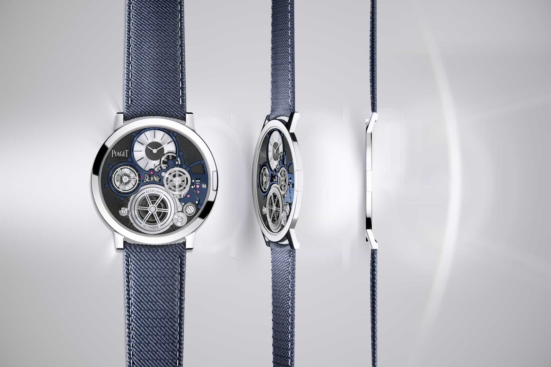 Die blaue Version der Piaget Altiplano Ultimate Concept