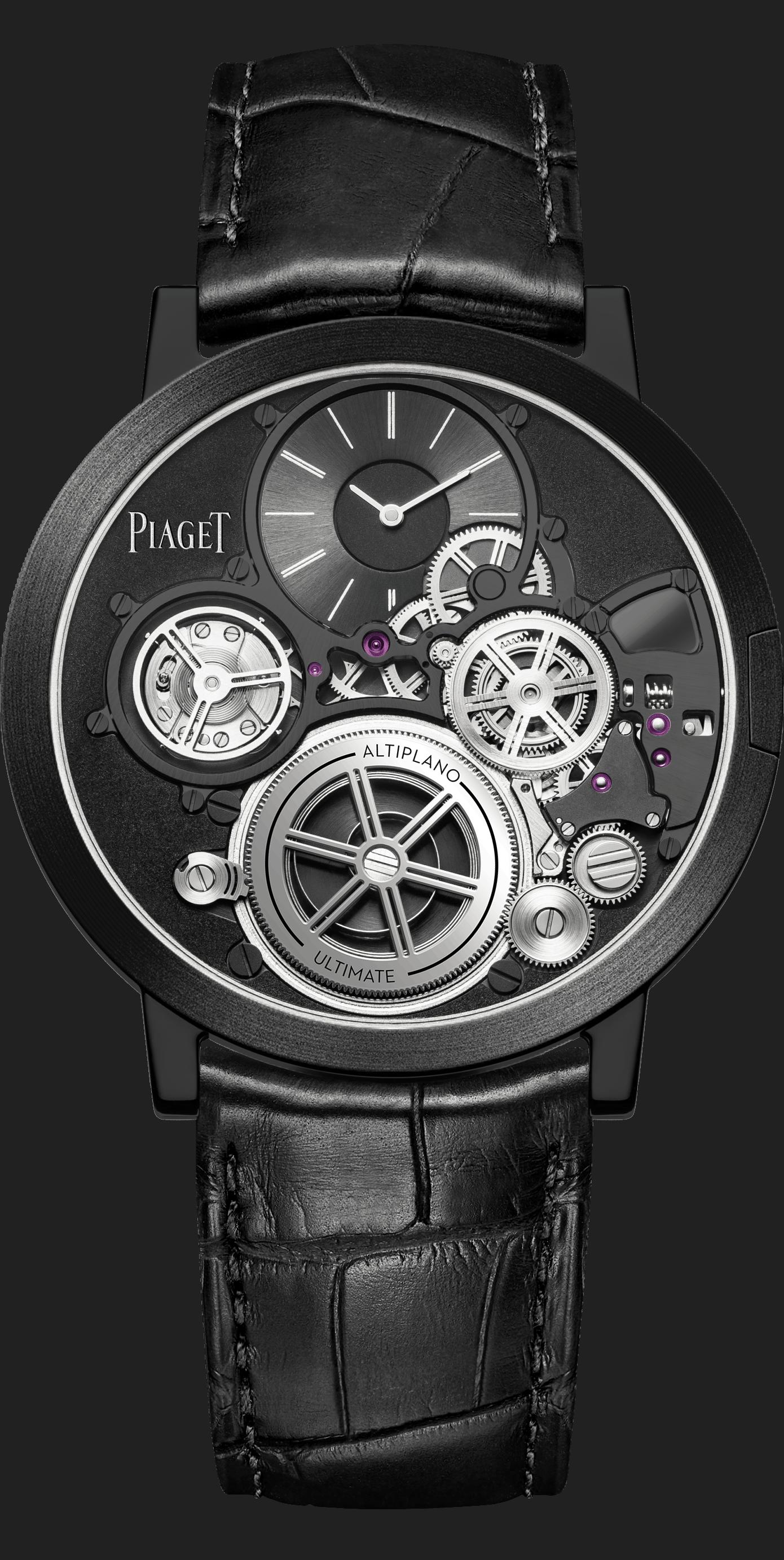 """In Schwarz und PVD beschichtet - Piaget """"Altiplano Ultimate Concept"""", Referenz G0A45500"""