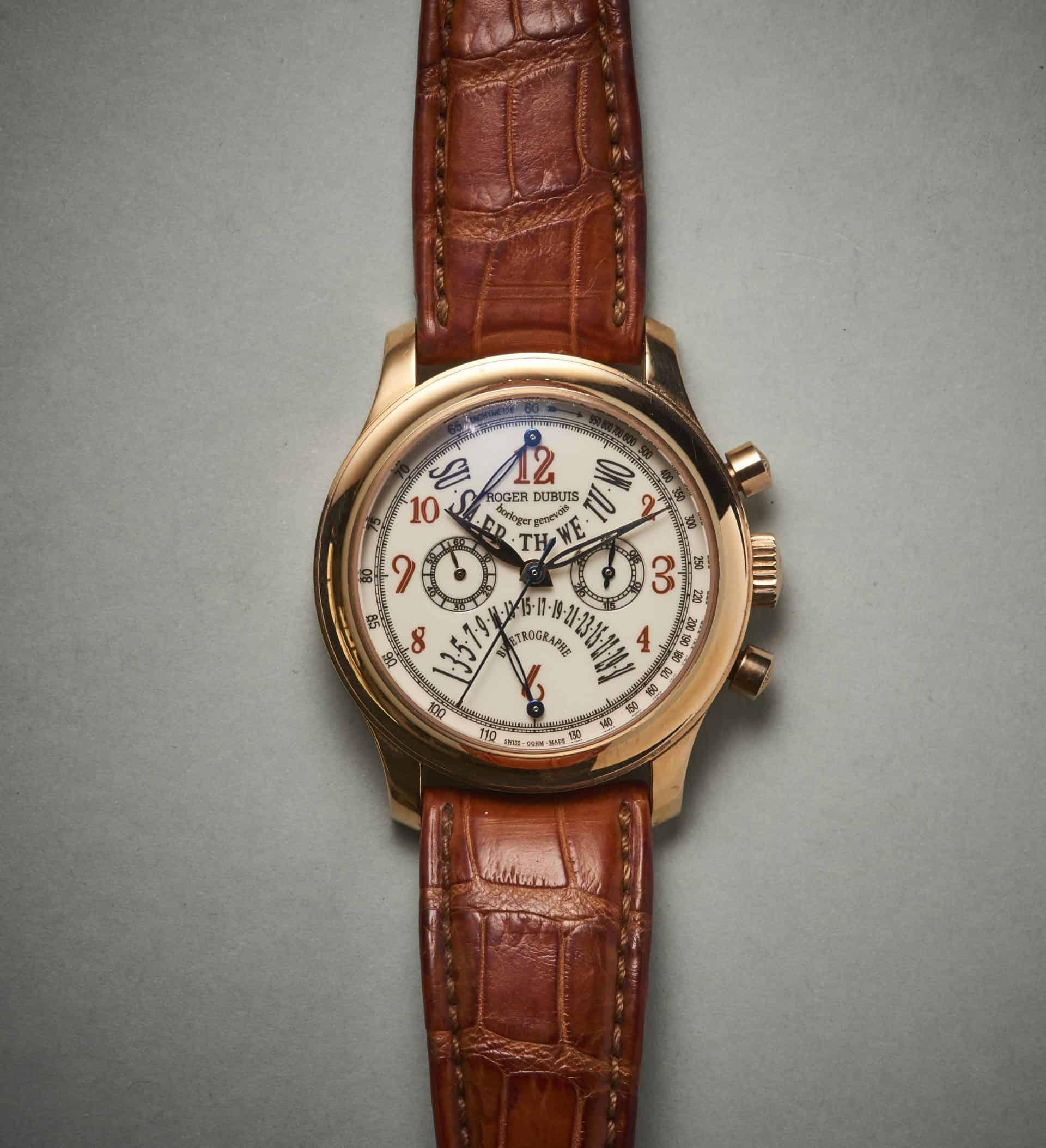 Roger Dubuis: Hommage Chronograph Bi-Retrograd mit retrograder Datums- und Wochentagsanzeige