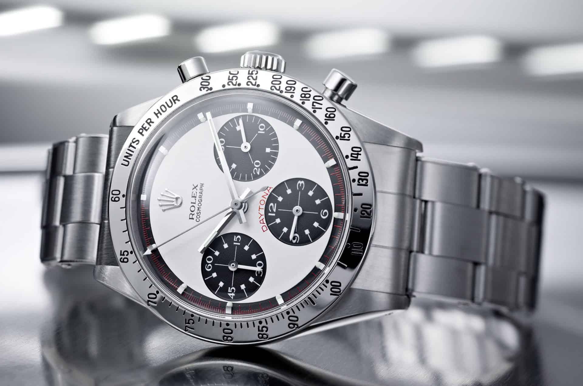 """Für den Vintage Rolex Daytona Chronographen """"Paul Newman"""", Referenz 6239, werden sechstellige Summen geboten"""