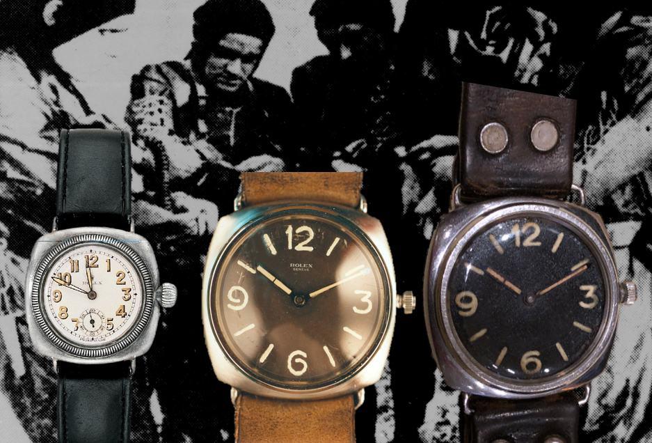 """Im direkten Vergleich die Modelle Rolex """"Oyster"""" 1926 und Panerai """"Radiomir"""" 1936"""