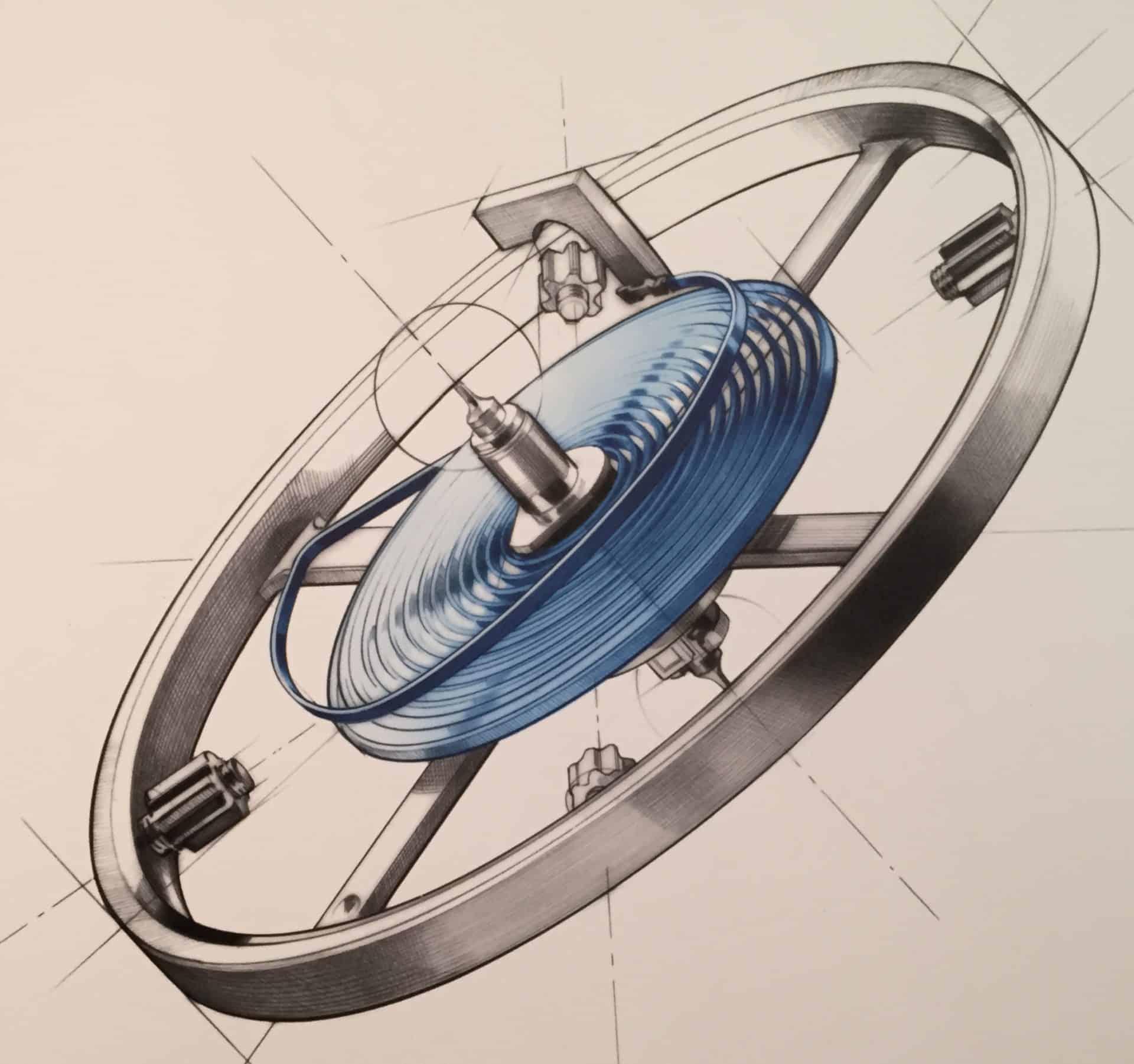So sieht eine Rolex-Unruh mit frei schwingender Breguetspirale aus
