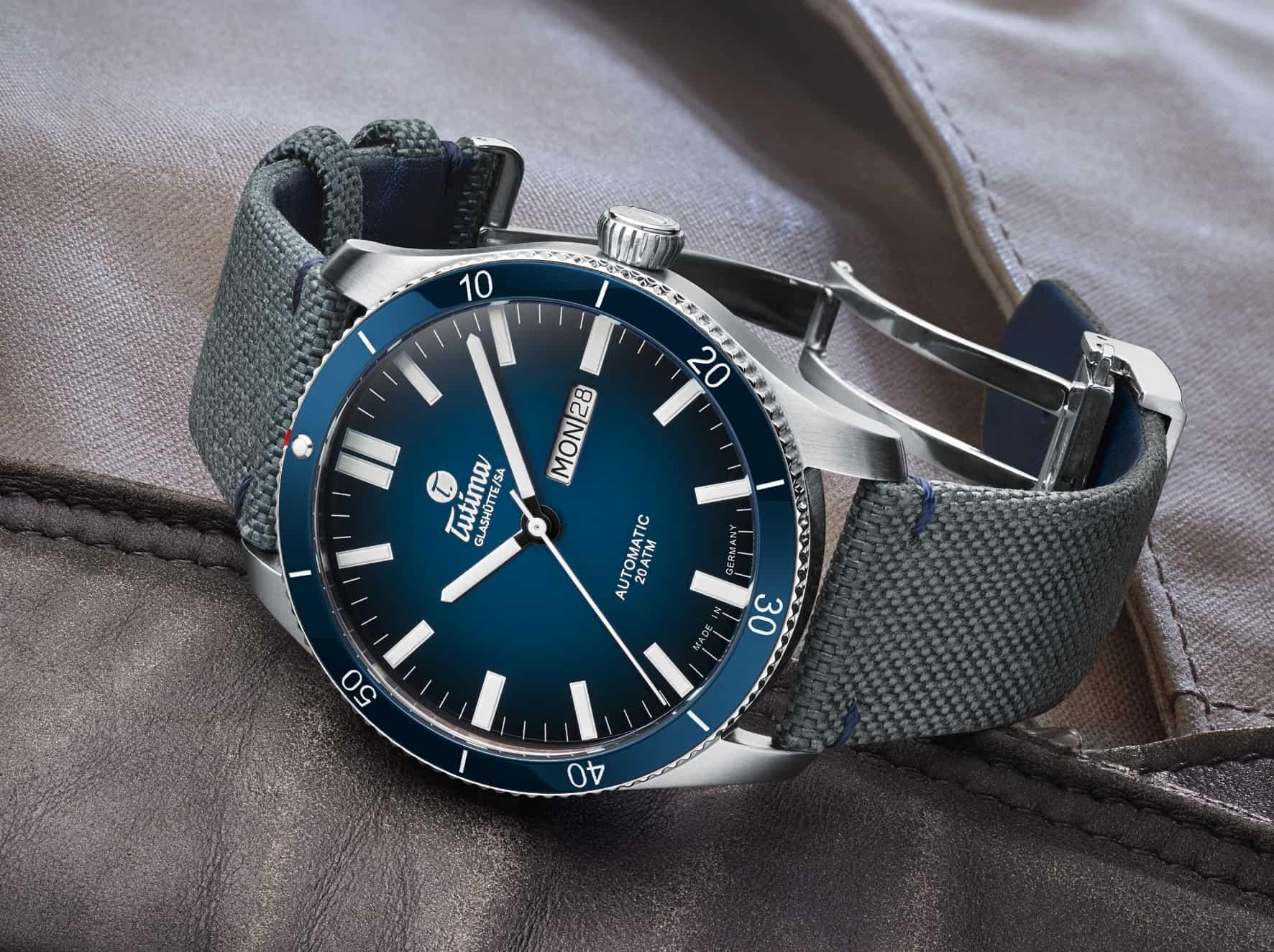 Eine deutsche Uhr - die Tutima Grand Flieger Airport  Ref.  6106-01
